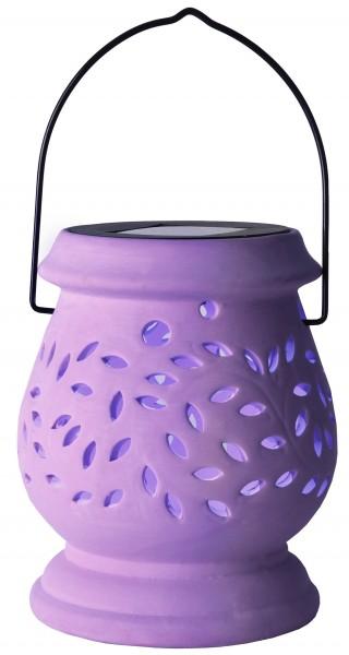 """LED-Solar-Laterne """"Clay Lantern"""", flieder"""