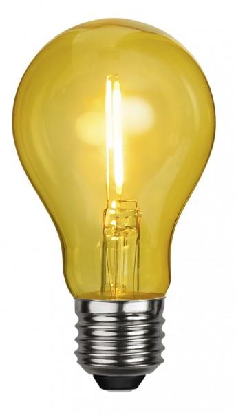 Filament LED, E27, Kugelform, gelb