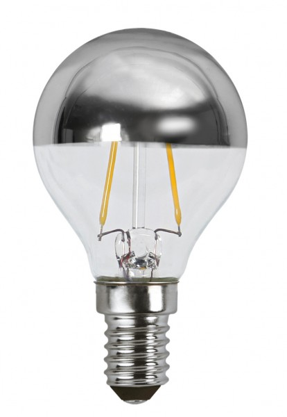 Filament LED, E14, 2700 K, 80 Ra, A+, Silberkopf