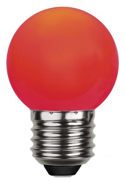 Decoration LED, E 27, rot, Polycarbonat