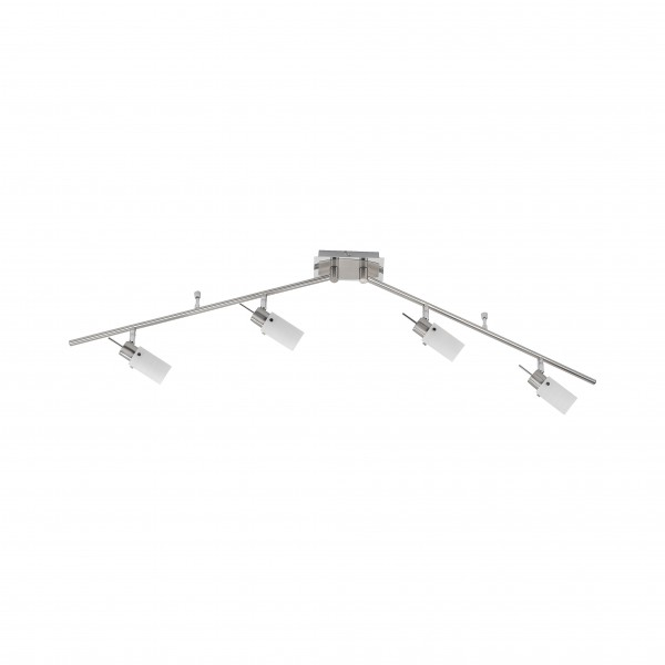 LED Deckenstrahler 4flammig, Stahl, schwenkbar