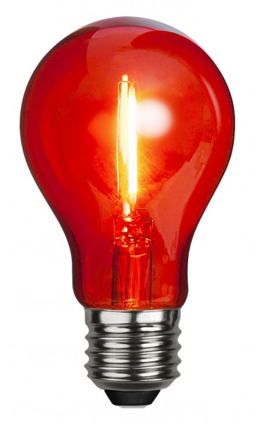 Filament LED, E27, Kugelform, rot