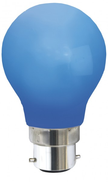 Decoration LED, B 22, blau, Polycarbonat