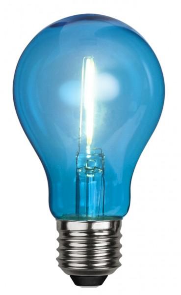 Filament LED, E27, Kugelform, blau