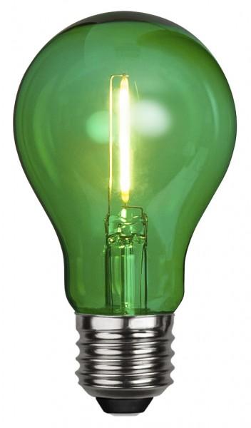 Filament LED, E27, Kugelform, grün