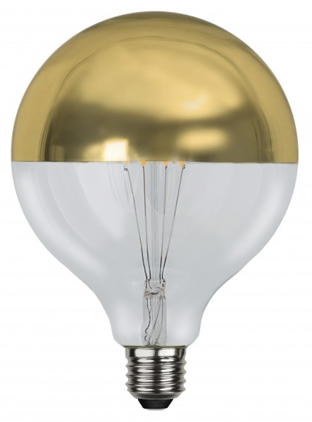 Filament LED, E27, 2700 K, 80 Ra, A+, Goldkopf