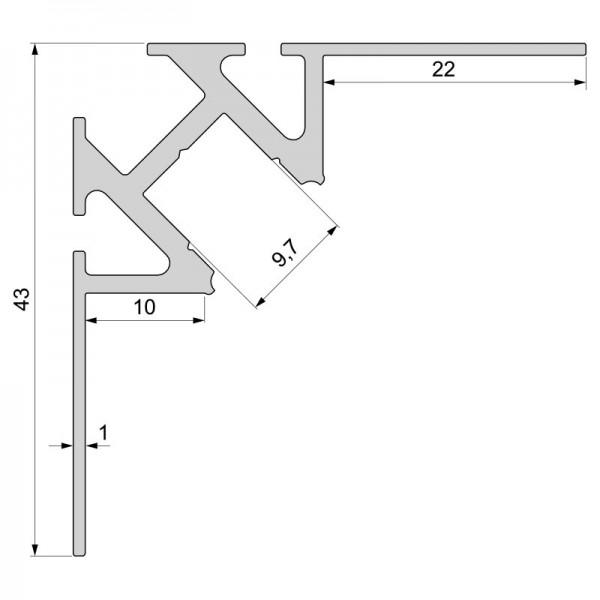 Fliesen Profil Ecke Innen Ev 01 08 Fur 8 9 3 Mm Led Stripes