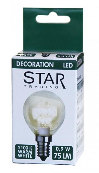 Decoration LED, E 14 Fassung, 2100 K, A++