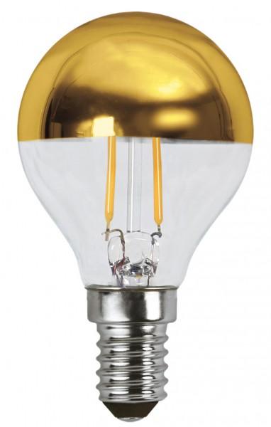 Filament LED, E14, 2700 K, 80 Ra, A+, Goldkopf