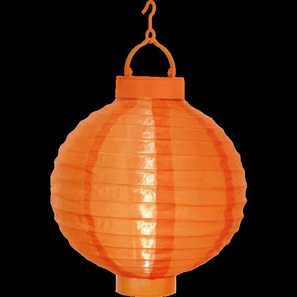 LED-Solarlampion, Farbe: orange ca. 22 x 20 cm, 1 cool light LED mit Solarpanel, incl. Akku outdoor, Vierfarb-Karton