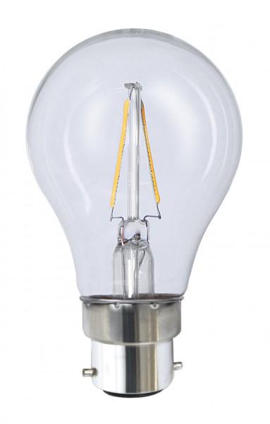 Filament LED, B22, 2700 K, 80 Ra, A++